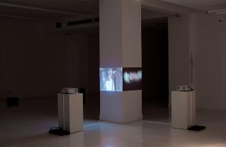 Untitled, 1992, 2-channel video projection, sound, 4 mins 7 secs