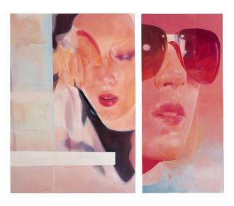 Girlfriend, 2003, oil on canvas, diptych